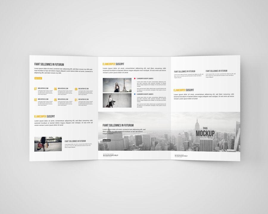 Download Tri Fold Brochure Mockup Psd Free Download PSD - Free PSD Mockup Templates