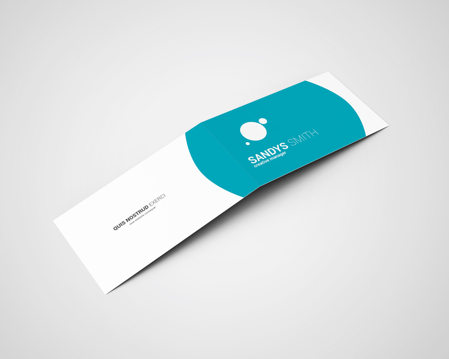 Folded Business Card Mock-Ups