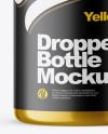 120ml Metallic Dropper Bottle Mockup