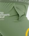 Women's Cuffed Sweatpants Mockup - Side View