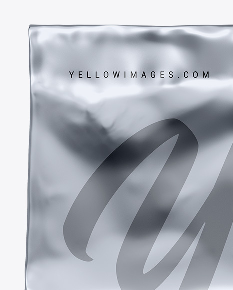 Metallic Coffee Bag Mockup