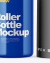 Glossy Roller Bottle Mockup