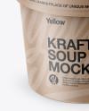 Kraft Paper Soup Cup Mockup