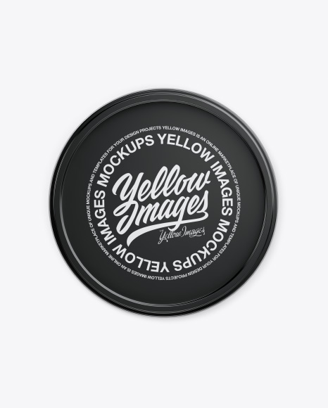 Container with Caviar Mockup