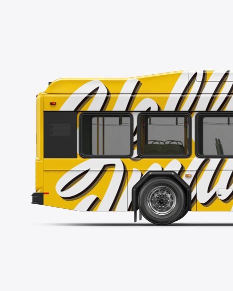 Hybrid Bus Mockup - Side View