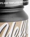 Ceramic Jar w/ Kraft Label Mockup