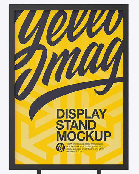 A1 Display Stand Mockup - Front View