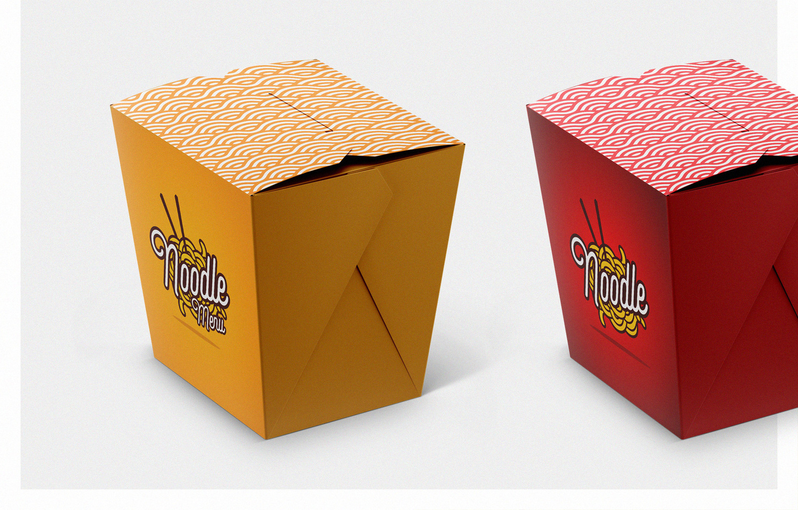 Download Noodles Box Mockup Set In Packaging Mockups On Yellow Images Creative Store