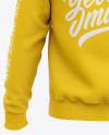 Men's Pullover Hoodie - Back View Of Hooded Sweatshirt