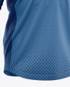 Men's Soccer V-Neck Jersey LS Mockup - Front Half-Side View