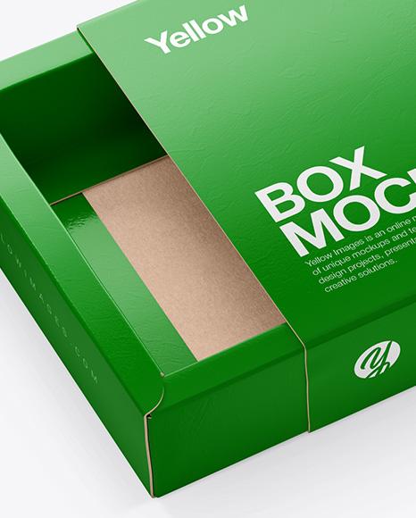 Download Glossy Giftbox Mockup PSD - Free PSD Mockup Templates