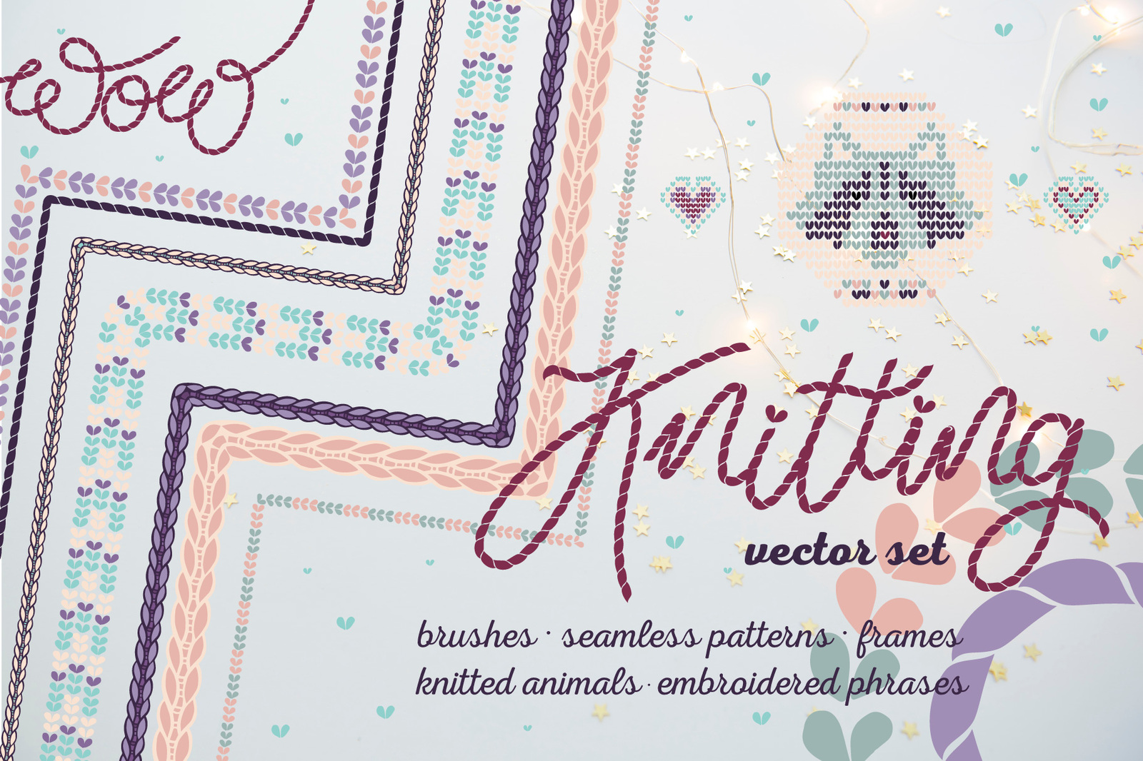 Knitted Elements, Brushes & Patterns