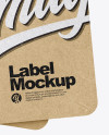 Kraft Labels Mockup