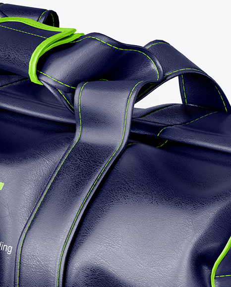Leather Duffel Bag Mockup