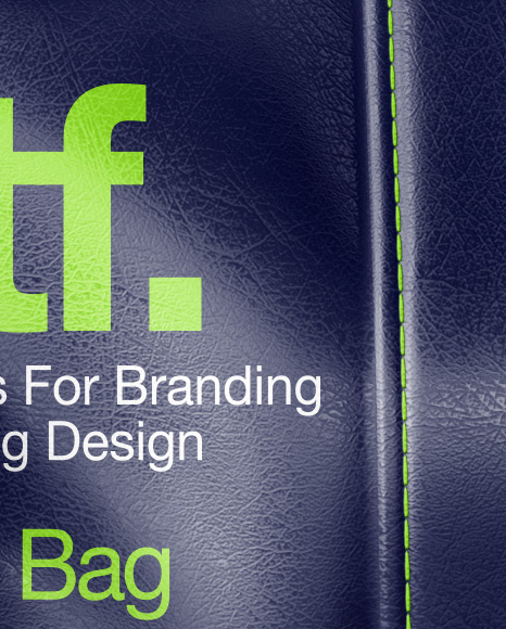 Leather Duffel Bag Mockup In Apparel Mockups On Yellow Images