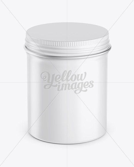 Download High Round Tin Box Mockup In Can Mockups On Yellow Images Object Mockups PSD Mockup Templates