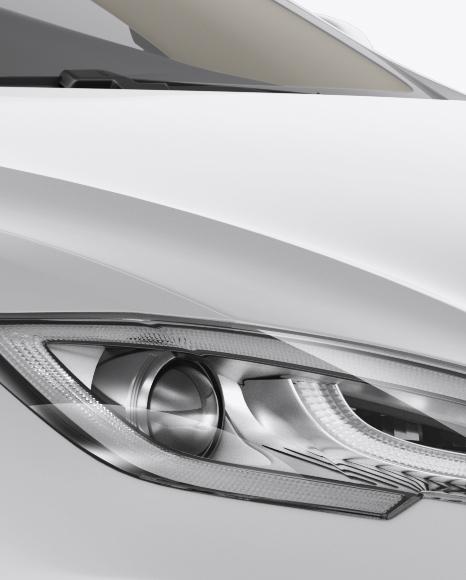 Tesla Model S Mockup - Halfside View