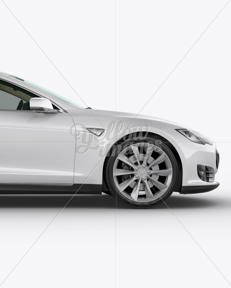 Tesla Model S Mockup - Side View