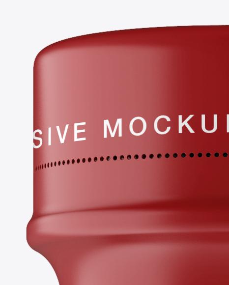 350 ml Plastic Bottle In Matt Shrink Sleeve Mockup