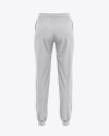 Women's Heather Cuffed Joggers - Back View