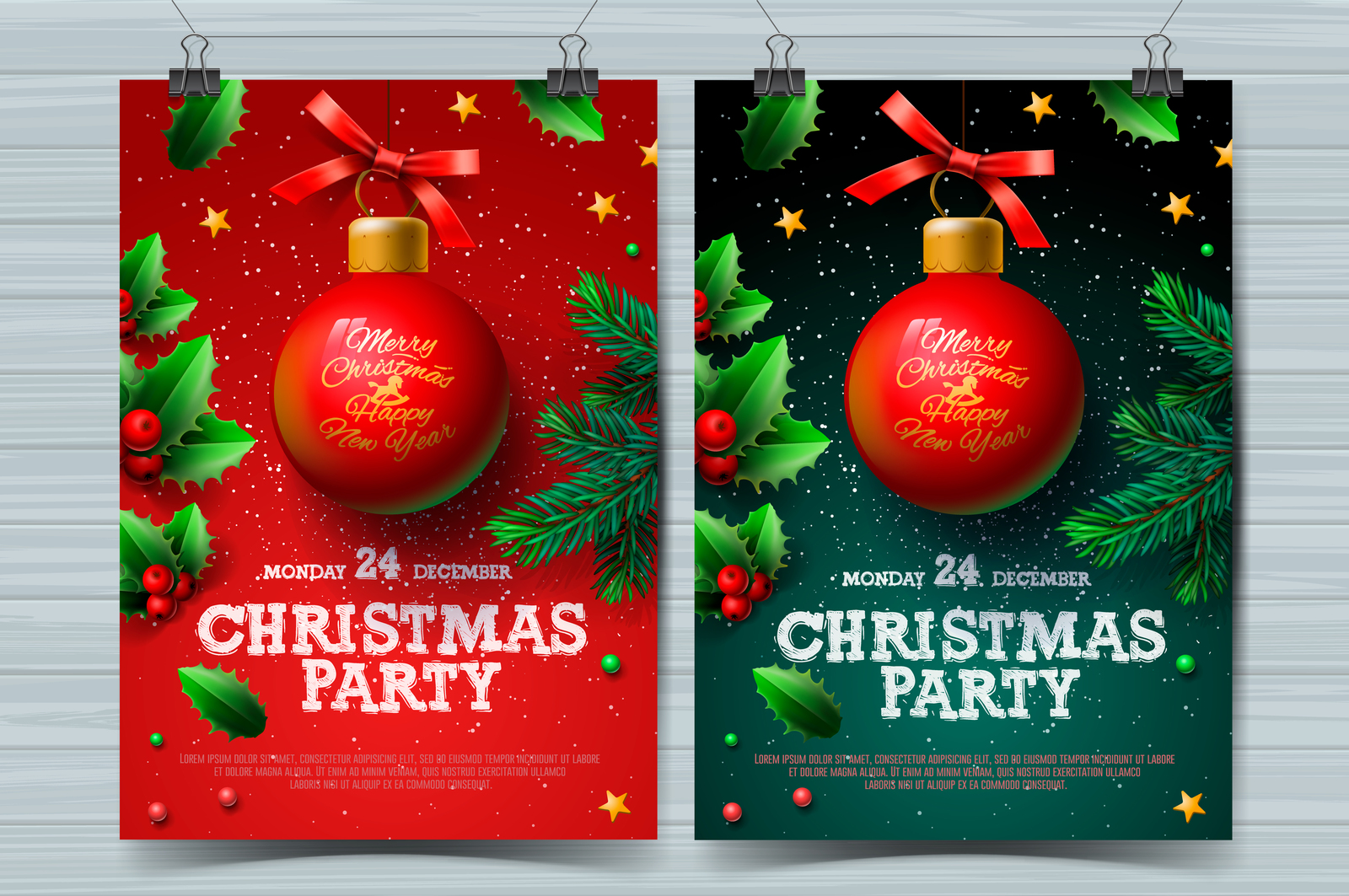 Christmas party design templates