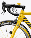Road Bicycle Mockup - Left Side View