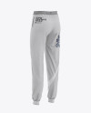 Women's Heather Cuffed Joggers - Back Half Side View
