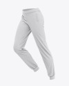 Women's Heather Cuffed Joggers - Side View