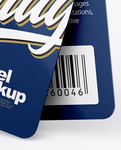 Glossy Labels Mockup