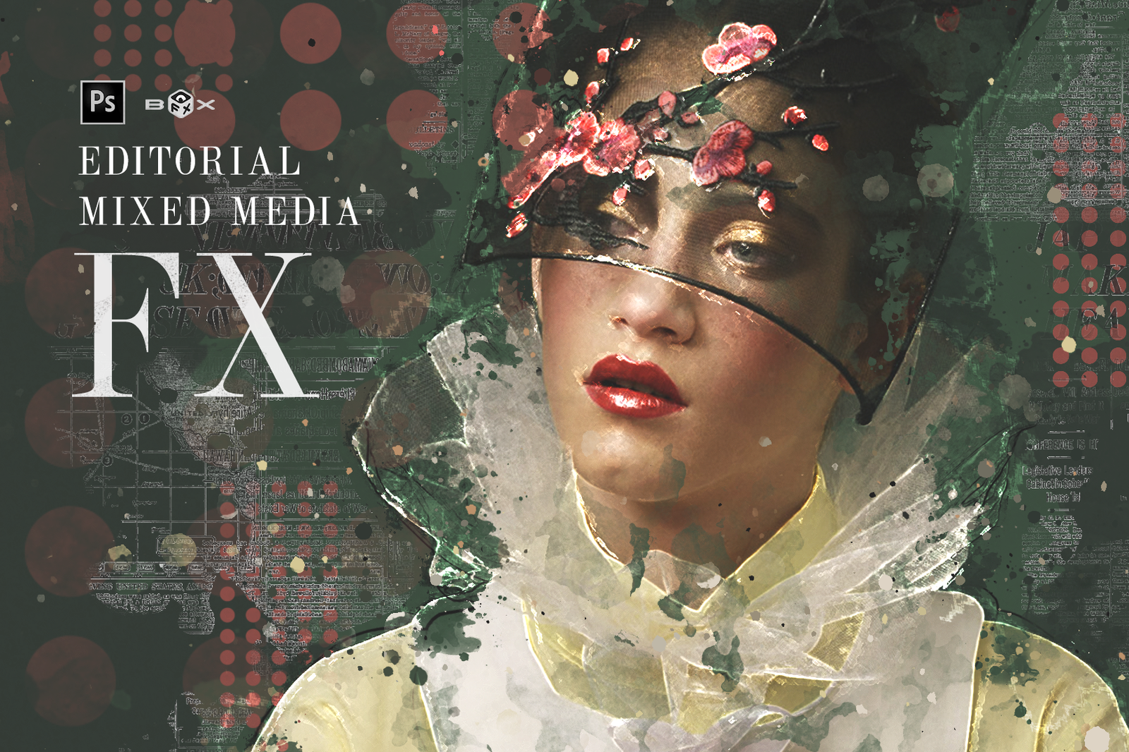 Editorial Mixed Media FX - Photoshop Add-On Extension