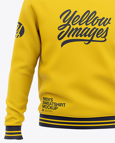 Men's Crew Neck Sweatshirt - Front View Of Sweater