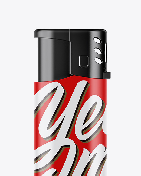 Matte Plastic Lighter Mockup