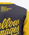 Men's Crew Neck Sweatshirt - Back View