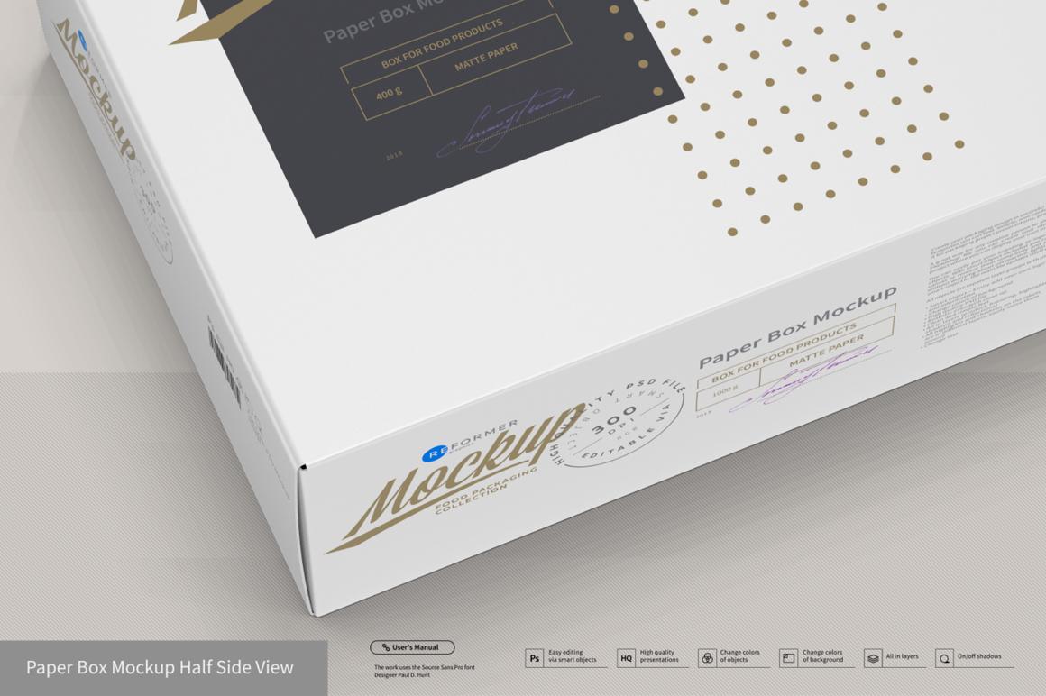 Presentation of Cartoon Box Design Mockup