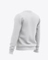 Men's Crew Neck Sweatshirt - Back Half Side View Of Sweater