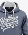Men's Heather Pullover Hoodie - Front View Of Hooded Sweatshirt