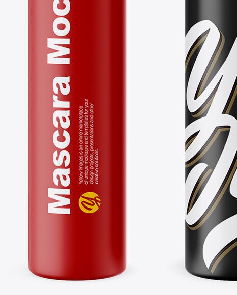 Opened Matte Mascara Tube Mockup