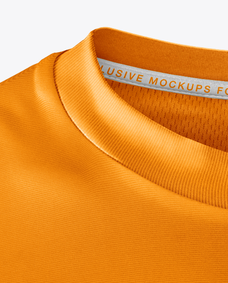 Men's T-Shirt with Line Texture Mockup