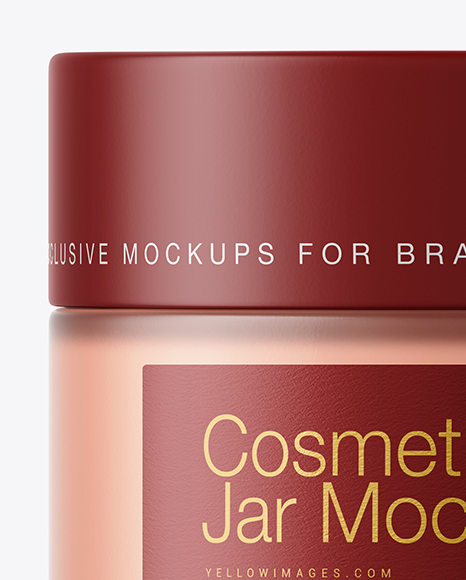 Frosted Glass Cosmetic Jar Mockup