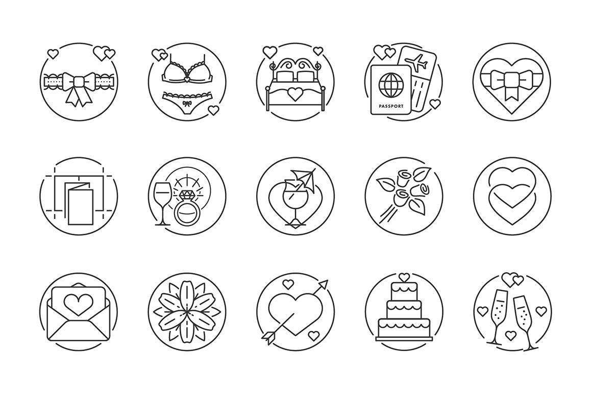 135 Wedding Icons