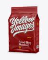 Matte Stand-up Food Bag Mockup