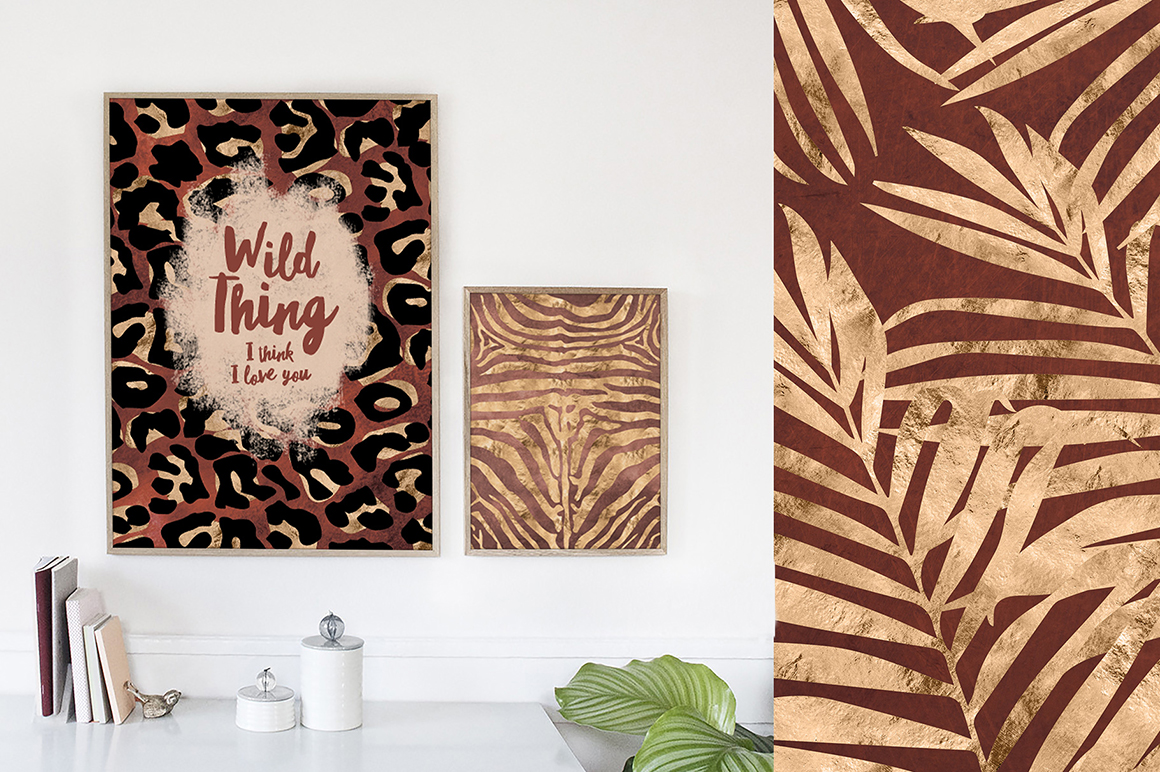 36 Wild Things Golden Animal Prints