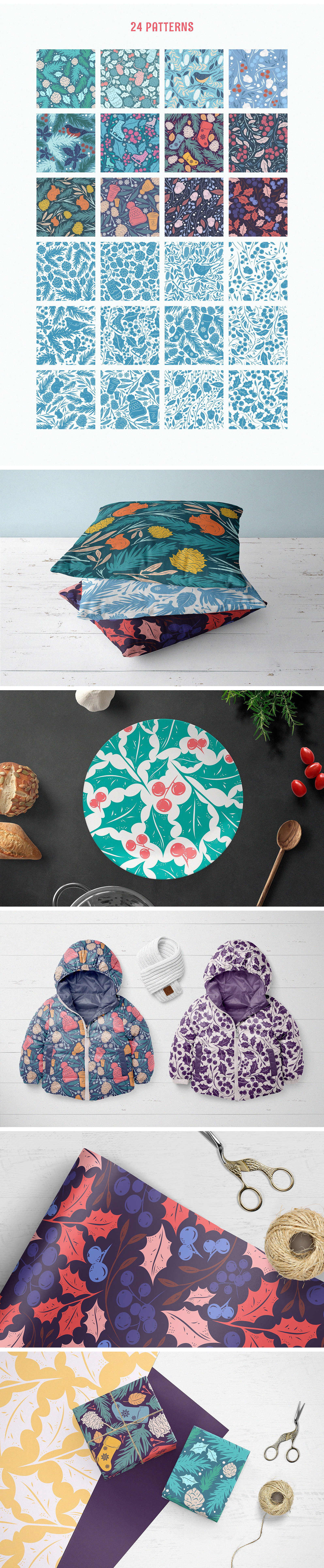 Christmas Gift: Vector Patterns Set