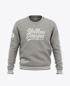 Men's Heather Crew Neck Sweatshirt - Front View Of Sweater