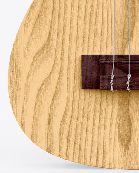 Wooden Ukulele Mockup