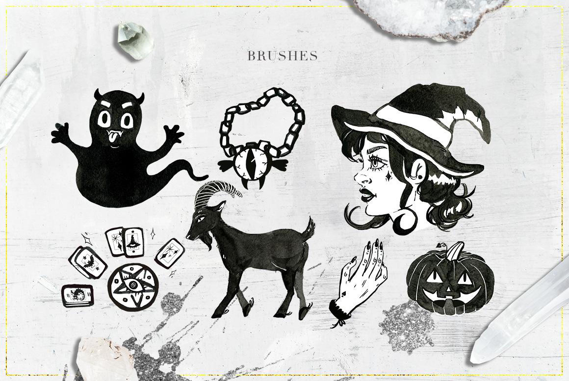 75 Witchcraft Photoshop Brushes