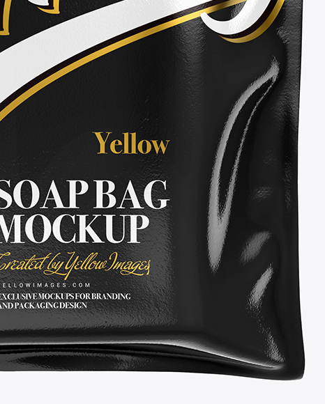 Glossy Soap Bag Mockup