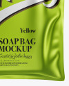 Matte Metallic Soap Bag Mockup