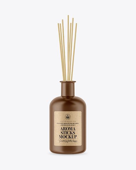 Matte Bottle with Aroma Sticks Mockup