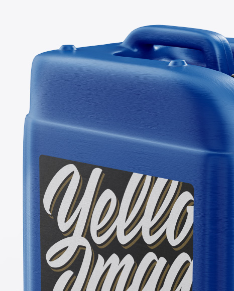 Textured Plastic Jerry Can Mockup